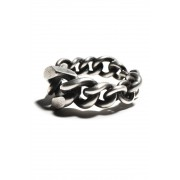 Ring Mixed Chain-Silver-L