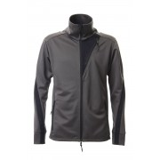 LEATHER LINE JERSEY JACKET D.Gray-D.Gray-3
