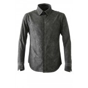 Cold Dyed Dress Shirt Black-Black-1