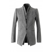 Horse Leather Double Leather Jacket-Gray-1