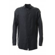 Long Shirt virgin wool / silk-Charcoal-1