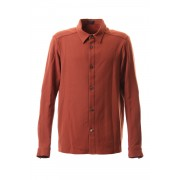Shirt virgin wool 4way stretch-Red-2