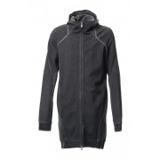 Medium Heavy jersey cold die long Parka - ST101-0029S-Charcoal-1