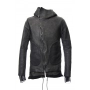 Cold Dyed Horse Leather Parka - ST105-0039S-Gray-1