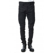 Dirty coating curve slim pants - ST107-0059S-Black-1