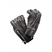 Horse leather cold dyed finger-less glove - ST109-0019S-Gray-1