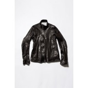 Lamb Leather Jacket -Black-1