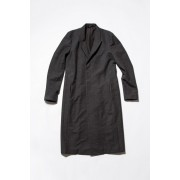 Alexandra Twill Long Jacket-Charcoal-1