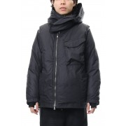 Layered Down jacket-Black-1