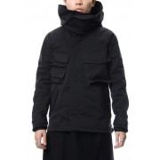 Nylon blouson-Black-1