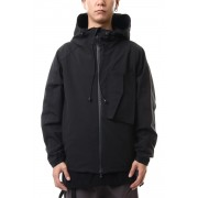Water-repellent Stretch Mountain parka Black