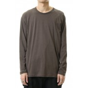 Cotton cashmere Long sleeve T-shirt Olive Drab-Olive Drab-1