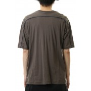 Cotton cashmere Back body Line Tee Olive Drab-Olive Drab-1