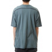 Cotton cashmere Back body Line Tee Turquoise-Turquoise-1