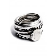 6 Ring Combination Eternity-Silver-M
