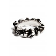 Ring Multiskulls-Silver-XS