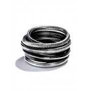 Ring Wound Words-Silver-M