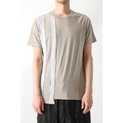 Irregular T-shirt-Beige Gray-1