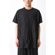 Stripe Wrinkled T-shirt-Black-3