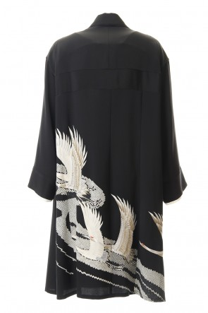 RONDO.ym 20SS Silk Georgette Gruidae Embroidery Coat