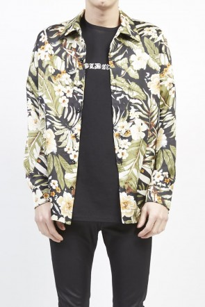 GalaabenD 19S PE Dessin tropical print shirt Black