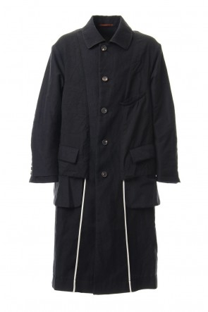 ZIGGY CHEN 19-20AW Wool Linen Soutien Collar Coat