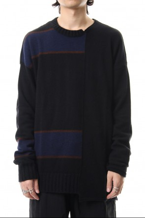 ZIGGY CHEN 19-20AW Asymmetric Border Knit