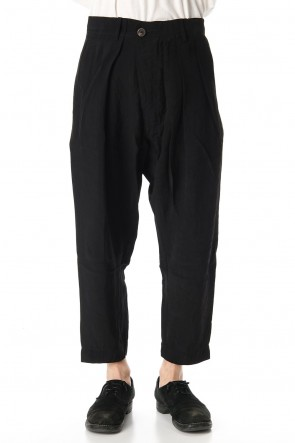 ZIGGY CHEN 20SS Asymmetry Tuck Pants