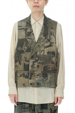 ZIGGY CHEN21SSDouble breasted Vest Gray Green Pigment