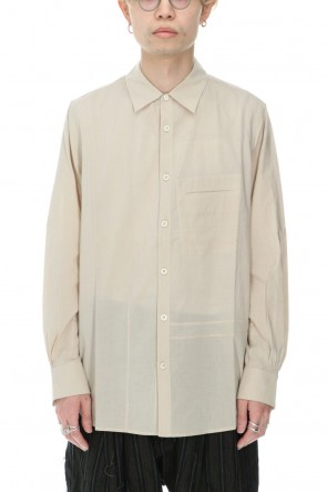 ZIGGY CHEN 21SS Separated Front Panel shirt