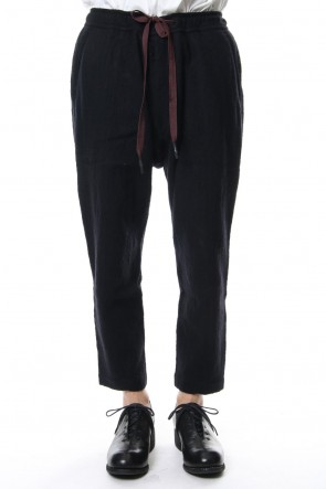 ZIGGY CHEN 18-19AW Cotton Linen Drawstring Cropped Pants