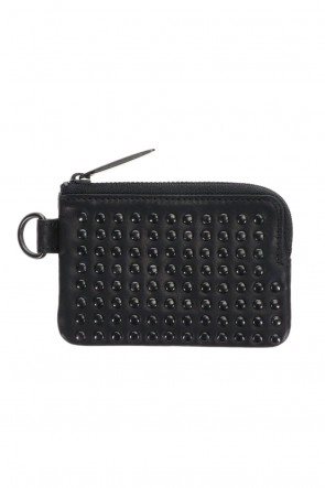 PATRICK STEPHAN Classic Leather coin case 'all-studs' DAL