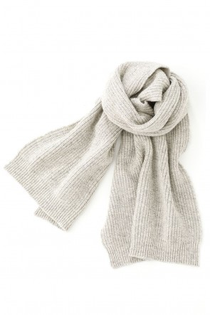 O PROJECT 20-21AW KNITTED SCARF - Natural Mere