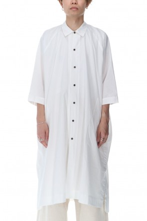 O PROJECT 21SS Gather Long shirt Off