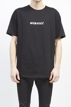 GalaabenD 19S GLD state out line print T-shirt (regular) Black