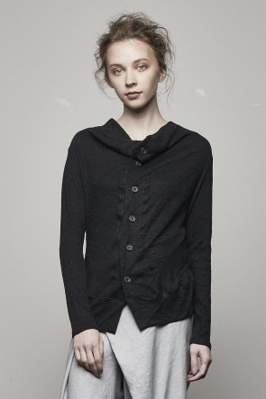 Linen Cotton Double Knit Cardigan - DK11-CS06-H03