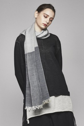divka 17-18AW merino Wool Double Weave Stole DK12-AC01-A01