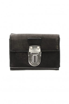 PATRICK STEPHAN Classic Leather trifold wallet 'cartable' S.Black