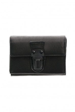 PATRICK STEPHAN Classic Leather trifold wallet 'cartable' B.Black