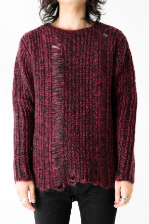 FAGASSENT 17-18AW Wool Damaging Crush Long Sleeve Knit