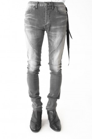 Bleached Grey Dessert Surface Skin Denim - SEIGEKI -