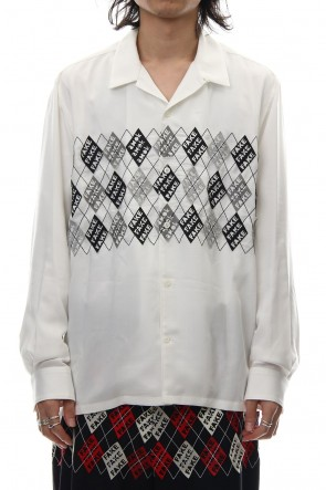 amok 18-19AW FAKE ARGYLE SHIRTS - 18021022 - WHITE