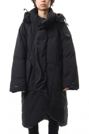 HAMCUS 19-20AW Darstronaut Geo cut Oversized down Black