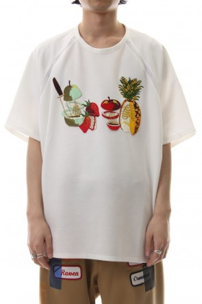 amok 19SS FRUITS BONE TEE - 19011014 - White