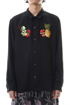 amok 19SS FRUITS BONE SHIRTS - 19011022 - Black