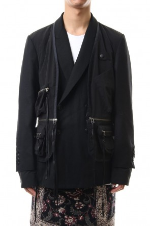 amok 19-20AW DICHOTOMIC DICKING JACKET - Black