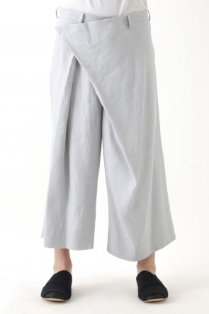Silk Linen Deformed Pants