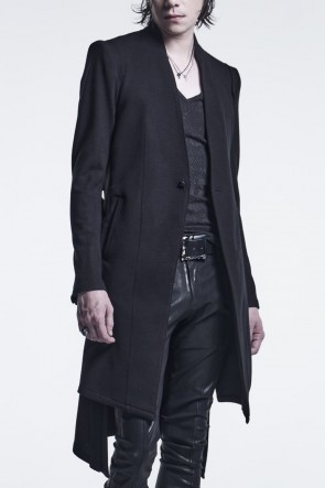 kiryuyrik 21-22AW No Collar Flare Jacket Black
