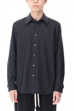 Yamauchi 20-21AW No Mulesin Wool Shirts Charcoal Gray