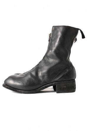 Long Front Zip Boots - Horse Full Grain Leather